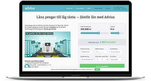 Låneförmedlaren Advisa gör det lätt att jämföra bankernas låneerbjudanden