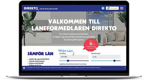 Direkto hjälper dig jämföra låneerbjudanden från flera av Sveriges ledande banker och långivare