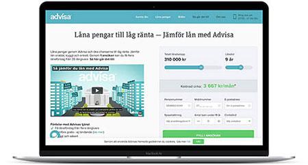 Ansök om privatlån via Advisa och låt långivarna konkurrera om dig