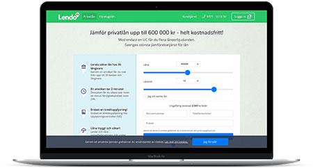 Ansök om privatlån via Lendo och få svar från upp till 35 långivare