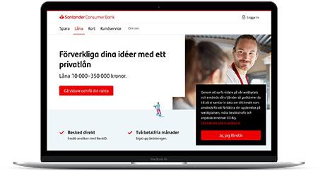 Santander Consumer Bank erbjuder privatlån med låneskydd