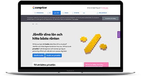 Hitta bästa räntan via låneförmedlaren Compricer