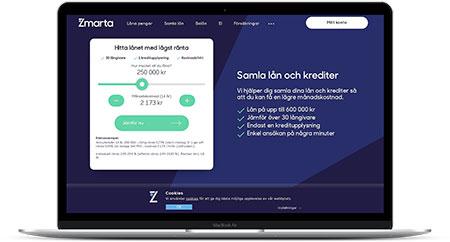Hitta Sveriges bästa hopbakslån via Zmarta